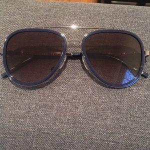 Marc Jacobs Navy and Gun Metal Aviator Sunglasses